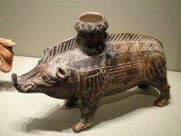 Boar Vessel 600-500 BC Etruscan Ceramic